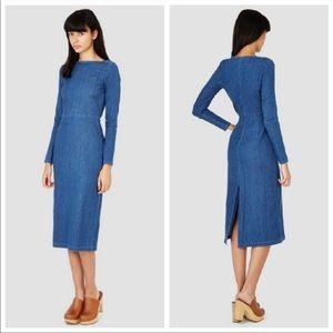 Rachel Comey Tenby Body-Con Denim Dress SZ